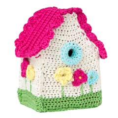 crocheted house